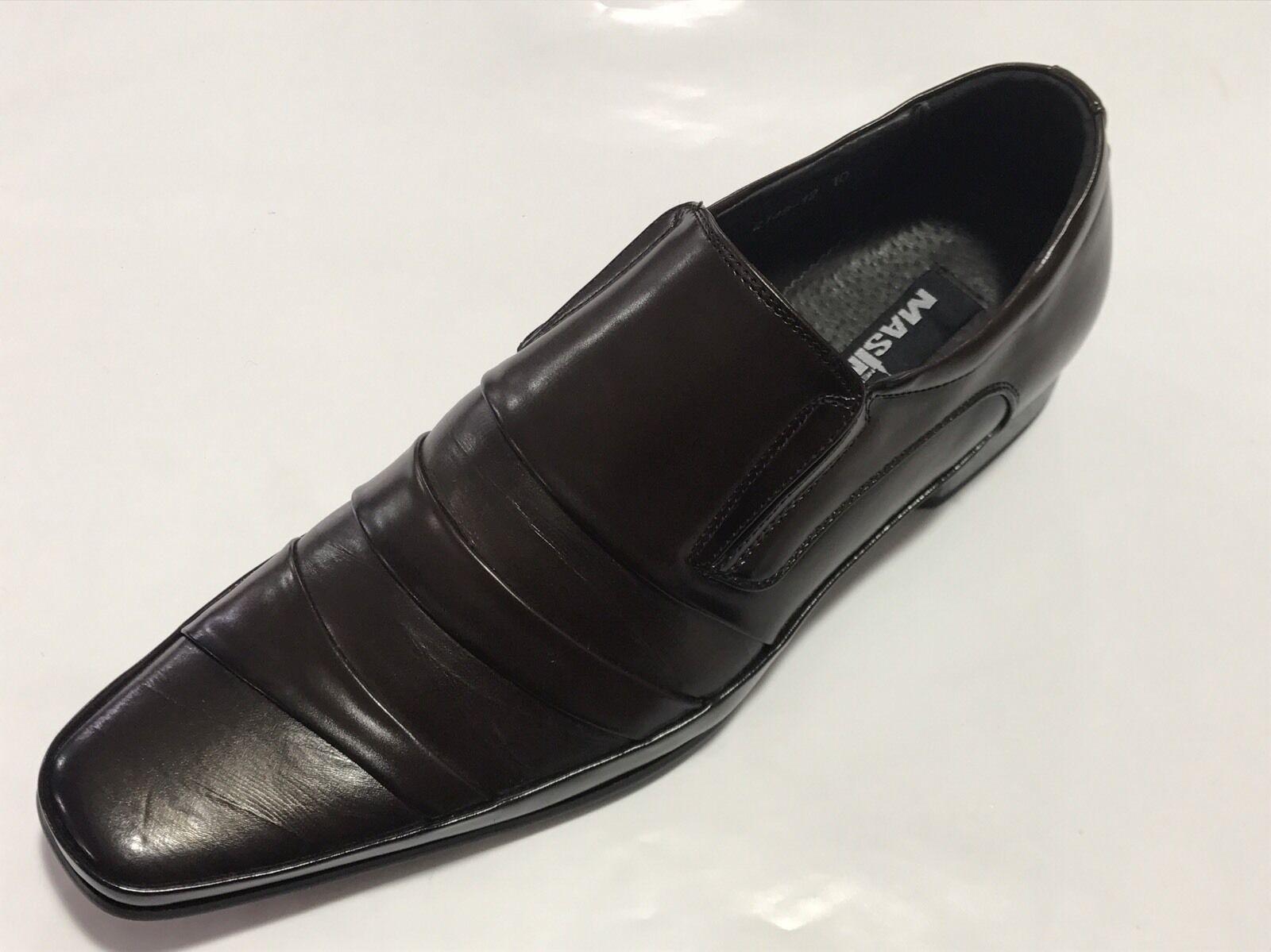super popular 230e8 26dc6 ... masimo chaussures glisse sur les faux cuir, cuir, cuir, Marron ,  nouveau 8a274b ...