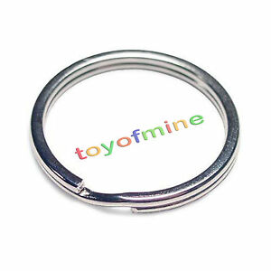WHOLESALE-LOT-1-10-25-50-100-NEW-KEY-RINGS-25mm-1-034-DIAMETER-SPLIT-RINGS-SILVER