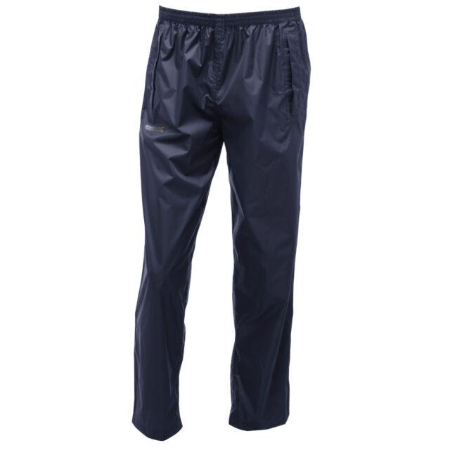 REGATTA MENS PACK IT WATERPROOF JACKET ISOLITE NAVY BLUE RMW249