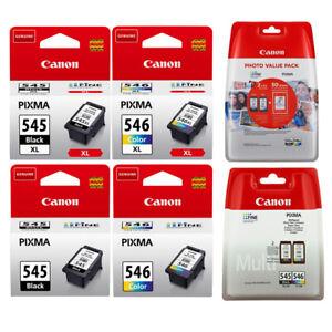 Original Canon TINTE PATRONEN PG-545 + CL-546 XL PIXMA MG2550 MG2555 MX494 MX495