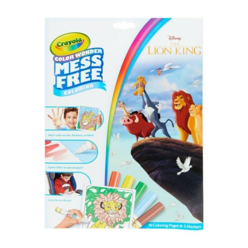 Crayola Color Wonder Lion King Coloring Book And Markers Mess Free Foldalope