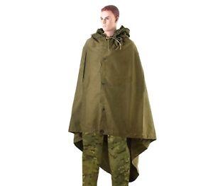 Soviet-Russian-army-soldier-rain-cape-poncho-plash-palatka-tent-Metall-grommets