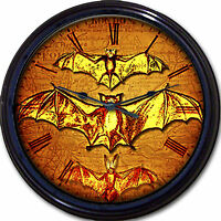 Steampunk Flying Bats Victorian Wall Clock Winged Gothic Goth Vintage 10