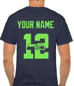 save off fcd78 f08cf Details about Seahawks Custom 12th Man Shirt with YOUR NAME
