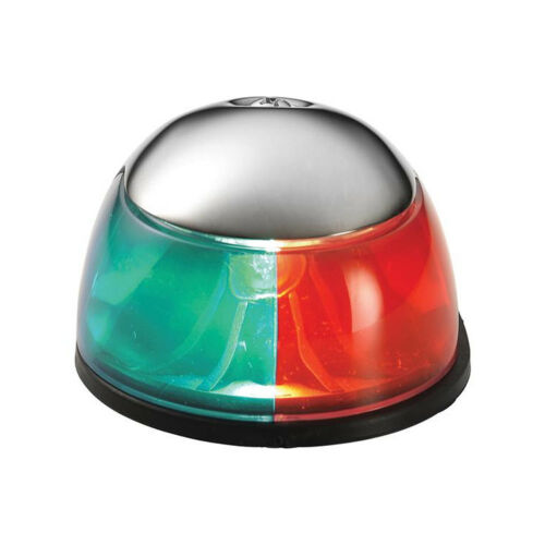 Attwood Boat Marine Bi-Color Horizontal Deck Mount Bow Light Red Green Combo
