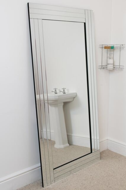 All Glass Rectangle Wall Mirror 180, Extra Large Round Mirror 150cm