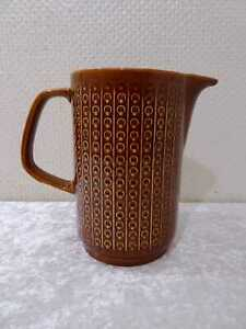 DDR-Elsterwerda-Diseno-Ceramica-Jarra-de-Leche-Vintage-Alrededor-De-1970-Braun