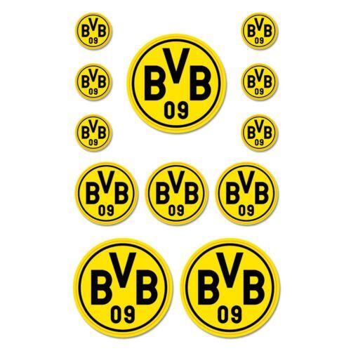 Aufkleberkarte Logos  Borussia Dortmund Fussball  Fanartikel