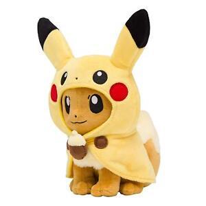 Pokemon-Center-Original-Plush-Doll-Pikachu-Poncho-Eevee-Eievui-Japan-import