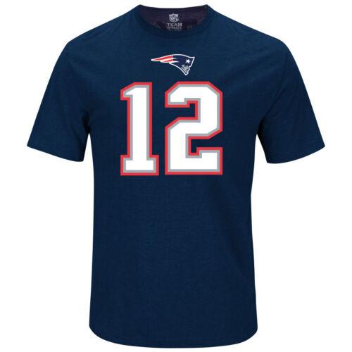 New England Patriots 12 Tom Brady Majestic NFL Fan Shirt