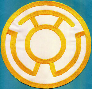 Large-8-034-Yellow-Lantern-Corps-Classic-Style-Embroidered-Iron-On-Patch