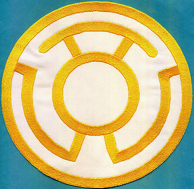 """Red Lantern Corps Classic Style Embroidered Iron-On Patch inch Large 8/"""""""