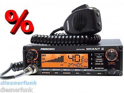 President Grant II 2 PREMIUM mit muRata AM/FM/SSB CB Funk 12Watt LKW on