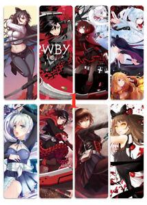 8pcs//set PVC Bookmarks of PRWBY Ruby Weiss Blake Yang Book Mark cosplay