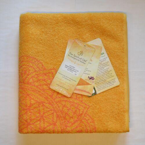 Blume des Lebens mit Edelsteinen Handtuch Sonnengruß koralle BIO energetisch