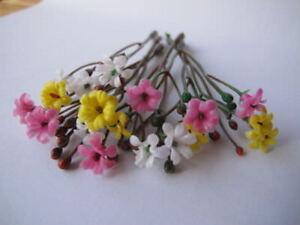 Brillant 18 Miniature Fleur + Bourgeons Mix Couleurs Plante Assort Couleur Dollhouse Jardin F1-afficher Le Titre D'origine PréParer L'Ensemble Du SystèMe Et Le Renforcer