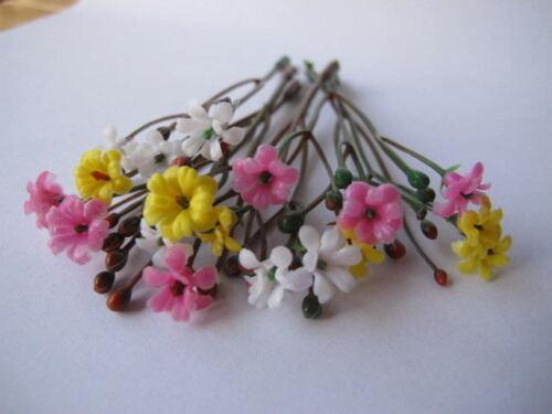 Buds Mix Colors Plant Assort Colour Dollhouse Garden F1 18 Miniature Flower