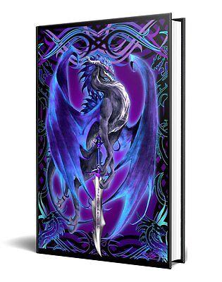 Dragon Fantasy Storm Blade Purple Dragon Embossed Journal Diary Notebook Strip