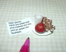 New Dollhouse Miniature Cookies Milk and a Note  for Santa Claus  # 30