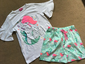 PRIMARK GIRLS DISNEY LITTLE MERMAID TOP AND SHORT SET BNWT ALL AGES