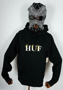 Huf Worldwide Skateboard Sweatshirt Pullover Hooded Hoodie Phoenix Black in M