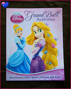 Image Is Loading DISNEY PRINCESS Grand Ball Activities BOOK Puzzles Mazes