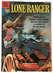 THE-LONE-RANGER-130-4-0-VERY-GOOD-DELL-Comics-1959-Silver-Age