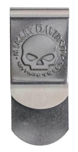 Silver CORESM95-NICKEL Harley-Davidson Men/'s Willie G Skull Metal Money Clip