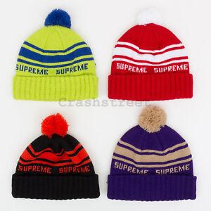 d13c7b0adef8 Supreme FW18 Classic Stripe Beanie cap camp logo shirt box hat tee ...