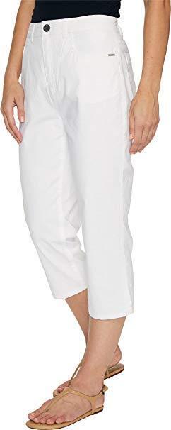 FDJ French Dressing Jeans Women's Sedona Peggy Capris in White 6  21