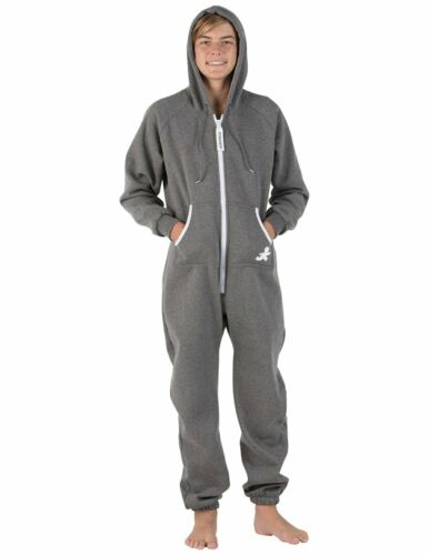 Details about  /Hooded Pajoggers Dark Gray With White Trim Fleece Kids Medium /& Kids Large NWT