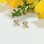 Indexbild 3 - 14 K Hallmark Gold Diamant-Ohrstecker im Rubin-Rosenschliff Weihnachtsgeschenk