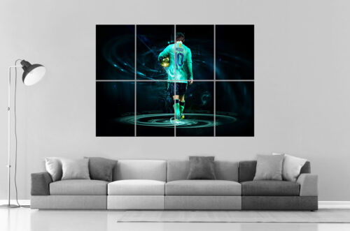 LIONEL MESSI BARCELONA FC GOLD  Wall Art Poster Grand format A0 Large Print