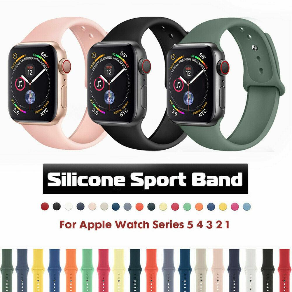 iwatch: Cinturino orologio sportivo silicone Apple Watch Serie 5/4/3/2/1 42/44mm