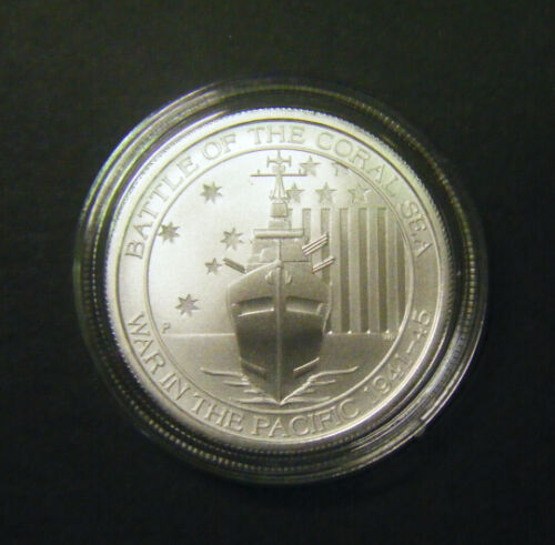2014 Australian Battle of the Coral Sea 1//2oz 0.5oz Silver Bullion coin 50 cent