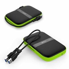 External Hard Drive 1TB Rugged Water Resistant USB 3.0 Portable Shockproof Disk
