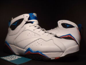 meet 12be0 c55b8 Image is loading Nike-Air-Jordan-VII-7-Retro-WHITE-ORION-