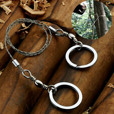 Stainless Steel Emergency Travel Survival Gear Wire Saw Camping Hiking A7O1