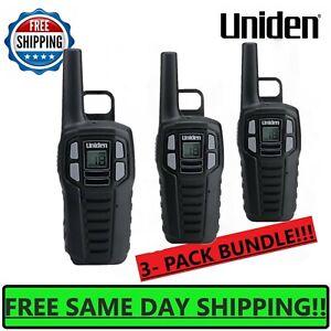 UNIDEN-Long-Range-3-pack-Rechargeable-Two-Way-Radio-Walkie-Talkies-16-MILE-2-Way