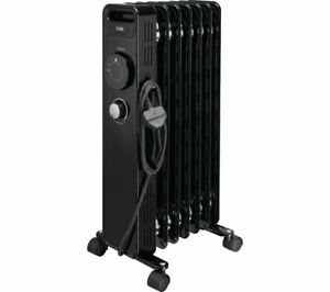 LOGIK L15OFR20 Portable Oil-filled Radiator 1500W Wheels Black - Currys