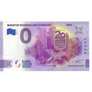 ALLEMAGNE 2021-15 MINIATUR WUNDERLAND HAMBURG BILLET SOUVENIR 0 EURO TOURISTIQUE