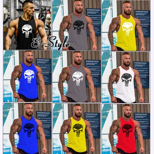 The Punisher Skull Men Gym Muscle Shirt Tank Top Bodybuilding Sport Fitness Vest