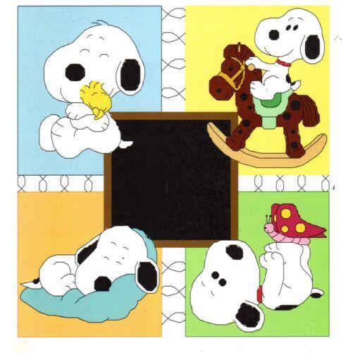 BABY SNOOPY BIRTH ANNOUNCEMENT CROSS STITCH PATTERN PDF file
