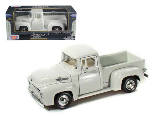 1956 Ford F-100 Pickup 1:24 Diecast Truck Model White Motormax 73235WH*