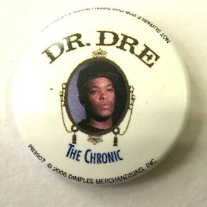 Dr-Dre-The-Chronic-Og-2006-Boton-Insignia-25mm-Oficial-Seguridad-Cierre-Rap