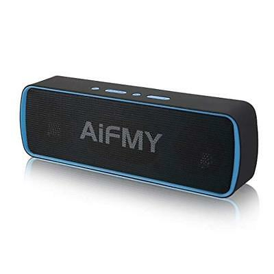 Aifmy Portable Wireless Bluetooth Speaker Dual Drivers Built In Mic Hd Audio