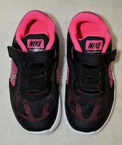 Image is loading Nike-Revolution-3-TDV-Black-Silver-Pink-Girl-