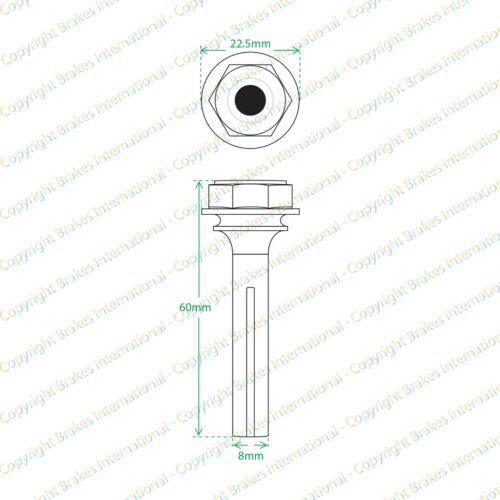 BMW 3 SERIES E30 2x FRONT BRAKE CALIPER SLIDER PIN KITS 60x8mm PINS BCF1301DX2