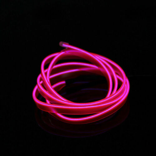 5m Neon LED Light Glow EL Wire String Rope Tube Decor Car Party /& Controller 1m