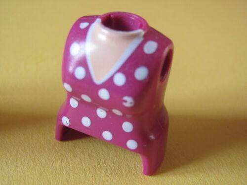 Playmobil @ @ @ @ figure woman @ @ @ @ bust custom red pink purple @ bust 25